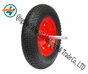 "Pneumatic Rubber Wheel Used on Platform Trucks Wheel (14""X3.50-8)"