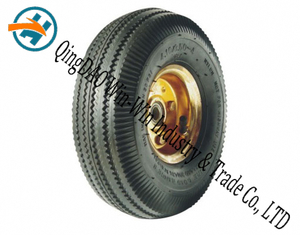 "10""X3.50-4 Rubber Wheel for Wheel Barrow Tyre"