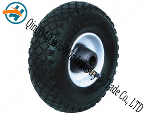 "Pneumatic Rubber Wheel for Wheel Barrow Wheel (10""X3.00-4)"