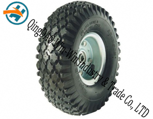 "Pneumatic Rubber Wheel with Wheel Rim (10""X4.10/3.50-4)"